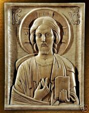 Jesus Christ Icon Religious Church art stone sculpture wall carving Christian