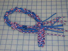 paracord 550 decorative whip phillies baseball red blue white colors wall hanger