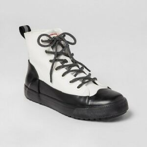 Hunter For Target Kids Dipped Canvas High Top Sneakers White NWT