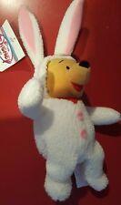 "Disney 8"" Easter Bunny Winnie the Pooh Bean Bag NWT Rabbit Japan Park"