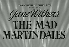 THE MAD MARTINDALES (1942) DVD JANE WITHERS, MARJORIE WEAVER