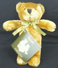 Harrods of Knightsbridge Teddy Bear plush green ribbon stuffed animal 6""