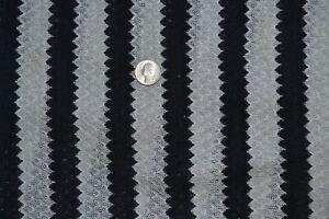 "Lightweight apparel sweater knit fabric 57"" x 1.6 yards, gray & black striped"