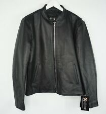 Xelement New W/ Tags Black Leather Jacket B7850 Motorcycle Removable Lining Sz M