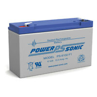 Power-Sonic PS-6100 6V 12AH SLA Moultrie Crown Rechargeable Battery