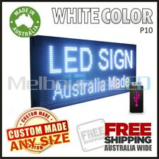 LED SIGN 1M White Scrolling Programmable Moving Message Window Display 990x350