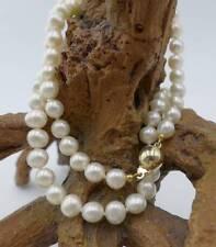 Schimmernde Perlen Halskette mit 585 Gelbgold