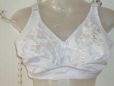 Bra 44F Flower Design No-Wire White