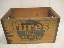 VINTAGE WOOD-WOODEN HIRES R-J ROOT BEER BEVERAGE POP SODA BOX CRATE