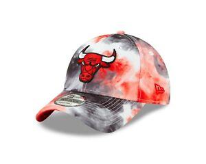 Chicago Bulls NBA PAINT MASSAGE  9Twenty Strapback Hat - Black, Red