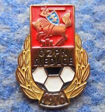 POLAND distr. SIEDLCE FOOTBALL FUSSBALL SOCCER FEDERATION 1980's GOLD PIN BADGE