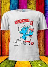 Smurfnoff Funny Cool Swag Drunk T-shirt Vest Tank Top Men Women Unisex 2360