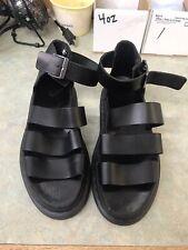 *Dr. Martens* Clarissa Black Leather Platform Sandals Size 8, Fits Like Size 9