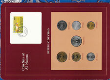 Coin sets of all Nations Chad W/C 1976-1983 UNC 100 Francs 1982 500 Fr CAS 1976A