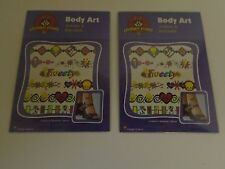 TWEETY BIRD TEMPORARY TATTOOS ANKLETS & BRACELETS -- 2 PACKAGES -- LOONEY TUNES