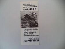 advertising Pubblicità 1976 UAZ 469 B