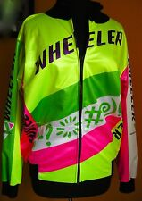 Wheeler Cycling Jacket Neon Colors Winter Insulated VTG Rare Italian Euro 5 US L