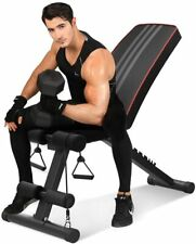 Adjustable Utility Weight Bench Foldable Flat Incline Decline Home Gym Workout