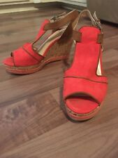 4c20f9e10b0 NWOB Women s CATO Wedge Heel Sandals Size 7 Red