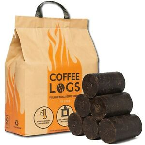 Bio Bean Coffee Logs Extra Hot Fire Recycled Carbon Neutral Fuel Pack of 16