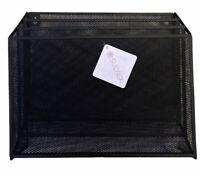 3 Pocket Metal Wall File Holder Organizer Hanging Magazine Document Rack BLACK