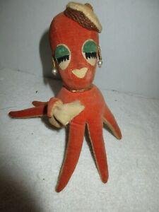 Vintage 1960's Hot Girl Octopus Stuffed Animal