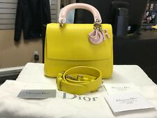 Christian Dior Be Dior Yellow Pink Leather Mini Flap Shoulder Bag Purse