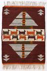 PATH / ORANGE Vintage Modernist Polish Textile Wall Hanging  Rug Cepelia Textile