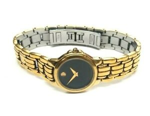 """Movado 88-E4-9835 Gold-Plated 8"""" Ladies Museum Watch"""