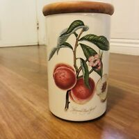 Collectable Vintage Portmeirion Pomona LARGE Peach, Pot Jar Canisters England