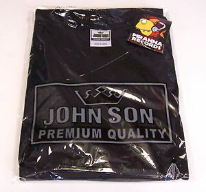 BLACK JohnSon Heavy Weight Cotton L V-Neck T-Shirt Piranha Records