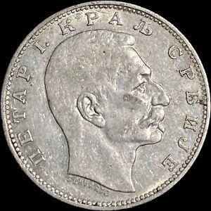 1912 Serbia Dinar (Silver) - Peter I