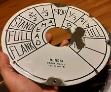 "ORIGINAL ANTIQUE SHIP'S BENDIX TELEGRAPH PORCELAIN METAL 10"" FACE Brookly N Y"