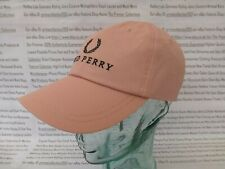 FRED PERRY Tennis Cap Unisex Grey- Pink Hat Elastic One-Size Cotton Caps BNWT