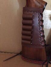 45 70 Caliber Leather Bullet Ammo Cartridge Rifle Stock Buttstock Cover Holder