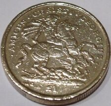 RARE 2003 £ 1 Coin Gibilterra 1 Pound St George & IL DRAGO Coin Hunt