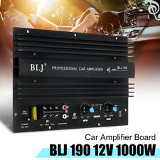 1000W 12V Black High Power Mono Car Audio Amplifier Powerful Bass Subwoofers Amp