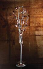 Piantana classica di design platino con vetri coll. BELL ametista 1650/P10L