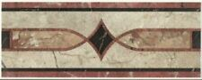 10 linear ft Tan, Rust and Black 4X10 Listello, ceramic tile border