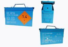 UNO Munitionskiste blau medium gebraucht 1. Wahl 30,5 x 15,5 x 18,7 Werkzeugbox