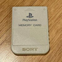 x1 SCPH-1020 Official OEM PS1 PlayStation 1 Memory Card 1MB Light Gray