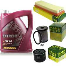 MANNOL 5L Extreme 5W-40 Motor-Öl+MANN-FILTER Vauxhall Vivaro Combi J7 1.9 Di
