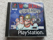WORMS WORLD PARTY Playstation One PS1 Game.