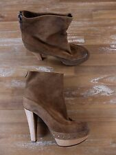 MARNI brown suede ankle boots authentic - Size 9.5 US / 39.5 EU