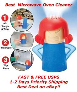 2pc Angry Mama Microwave Oven Cleaner Steam Clean Kitchen Gadget Cooking Tool