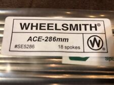 NEW Wheelsmith ACE-296mm Blade Spokes Bag of 18