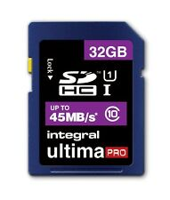 Integral 32GB UltimaPro SD SDHC Memory Card For Digital Camera 45MB/s Class 10