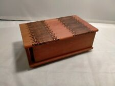 Hand Carved Trick Lock Novelty Wood Box (WC2003)