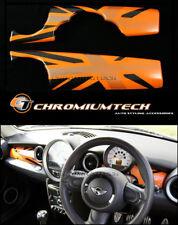 Mini Cooper/S/One R55 R56 R57 R58 R59 cubierta de panel de panel de control de Union Jack naranja