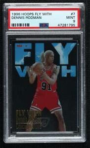 1996-97 NBA Hoops Fly With Dennis Rodman #7 PSA 9 HOF